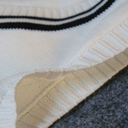 Men Vest Waistcoat Gilet Knitted Sleeveless Tank Top Sweater Jumper Loose V Neck