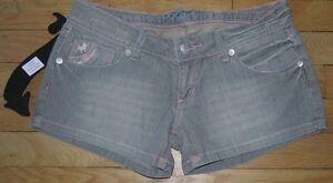 LOIS-Short-en-Jeans-Femme-W-30-Taille-Fr-40-Neuf-Ref-A034