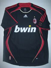 Adidas AC Milan 2006-2007 Alternate Third Black/Red Jersey Shirt Seedorf Maldini