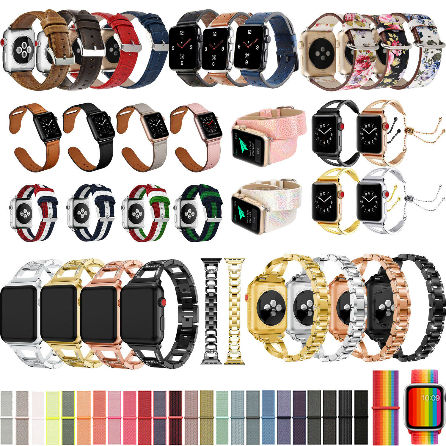 iwatch: 40/44mm iWatch Sport Band Casual Strap Bracelet for Apple Watch Series 6 5 4 SE
