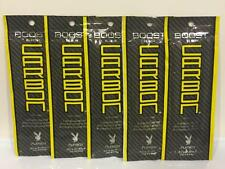 PLAYBOY MEN BOOST BLACK CARBON Indoor Tan Tanning Sample Lotion 5 Packets LOT