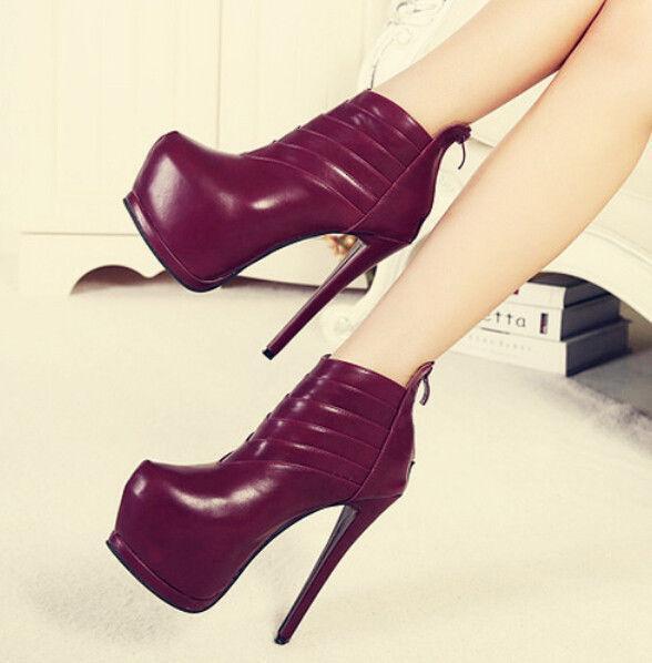 Women's High Heel Stilettos Platform Ankle Boots Sexy Platform Nightclub shoes