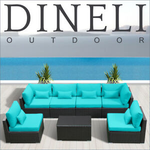 Image Is Loading 7PC Outdoor Patio Furniture Rattan Wicker Sectional Sofa