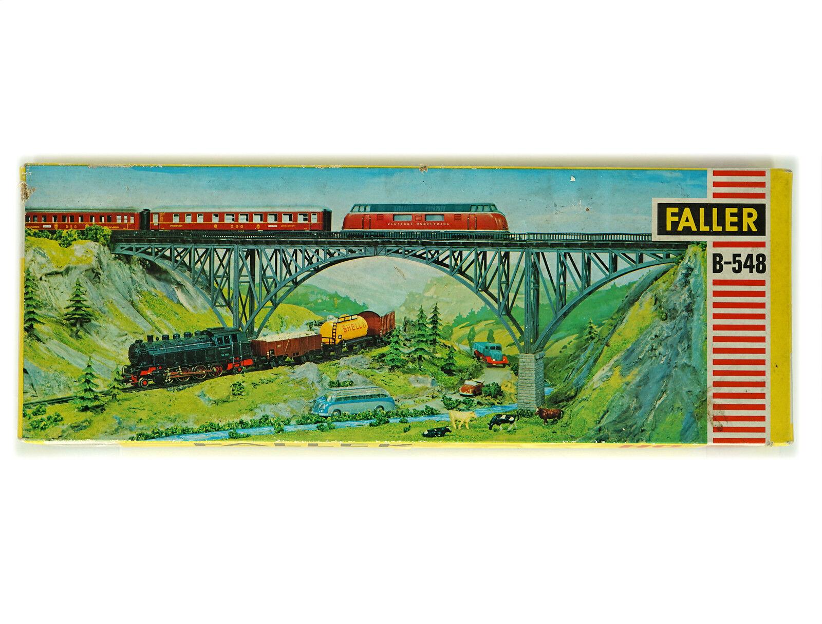 Antiguo Faller Escala Ho H0 B-548 Kit de puente de arco de acero, Nuevo Viejo Stock