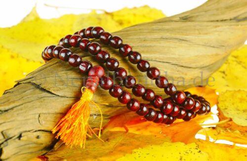 Rosenholz Halskette Gebetskette Indien Buddha Dharma Delhi 139b