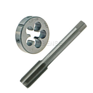 1-2-28-UNEF-Right-Hand-Thread-Plug-Tap-and-Die-Set-1-2-034-28-TPI-HSS-RH
