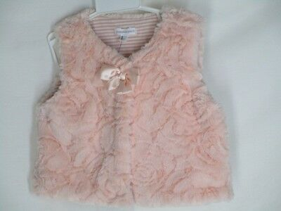 And Great Variety Of Designs And Colors Pumpkin Patch Pinkfaux Furry Vest Striped Lining 18-24 Mo Striped Lining Bow Famous For High Quality Raw Materials Full Range Of Specifications And Sizes