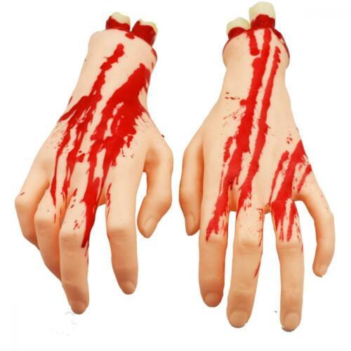 Xonor Halloween Sectionnée Mains Pieds Set Effrayant Sanglant Broken Corps Couleur De Peau
