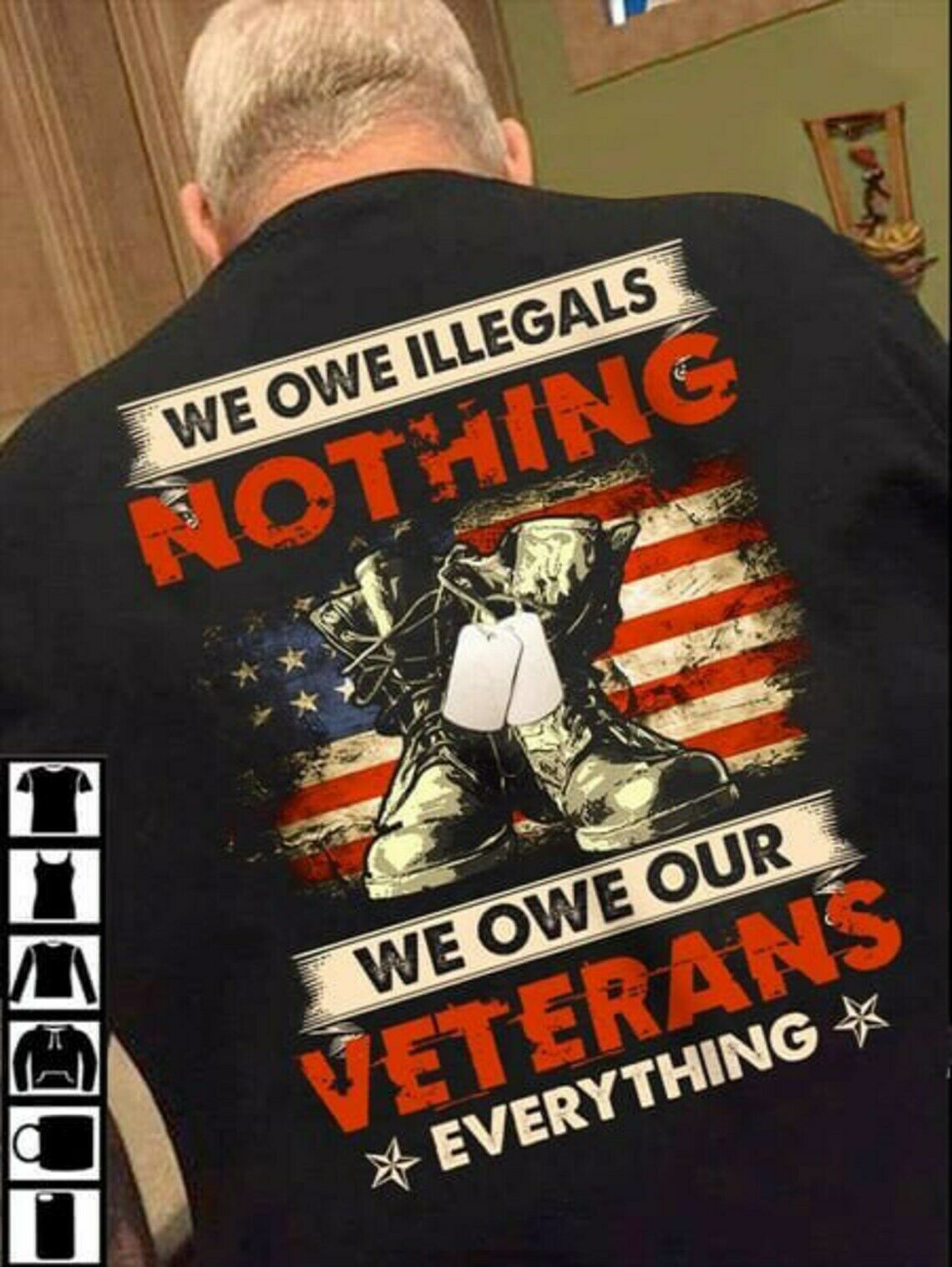 Veteran T-Shirt Backside Short Sleeve Tee Soldier Memorial Day Army Gift Masswerks Store