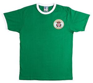 Retro-Hibernian-1980s-Football-T-Shirt-New-Sizes-S-XXL-Embroidered-Logo