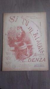 Si-Tu-M-Amado-Melodia-POR-L-Denza-Partituras-G-Ricordi-y-Co-Paris-1918-3-Para