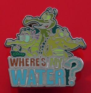 Walt-Disney-Parks-Enamel-Pin-Badge-Where-039-s-My-Water-Alligator