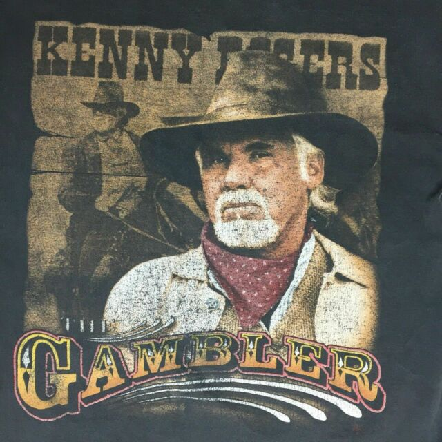 Vintage Kenny Rogers The Gambler Tour Black T-shirt Unisex ...