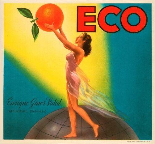Simat Espana Spanish Spain Engel Angel Orange Citrus Fruit Crate Label Art Print