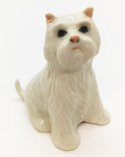 Maltese White Dog Ceramic Handmade Figurine Animal Cute Pet Decor Collectibles