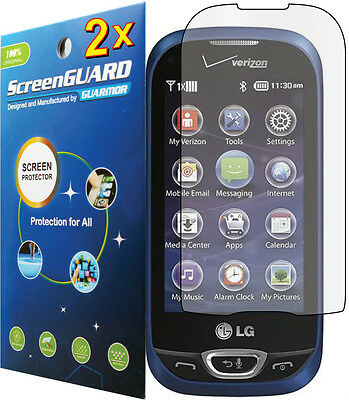 2x Clear LCD Screen Protector Guard Cover Shield Film LG Extravert II 2 VN280