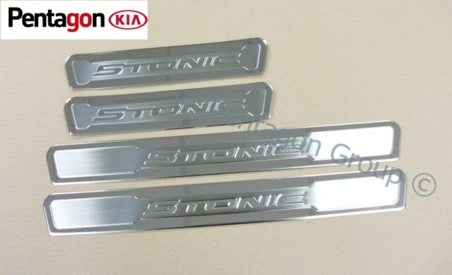 Genuine Kia Stonic 2017/> Stainless Steel Entry Guards Set of 4 H8450ADE50ST