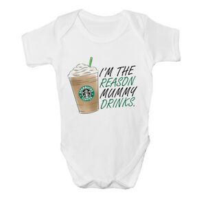 I-039-m-The-Reason-Mummy-Drinks-Funny-Cute-Baby-Grow-Bodysuit-Newborn-Gift-Idea-NEW
