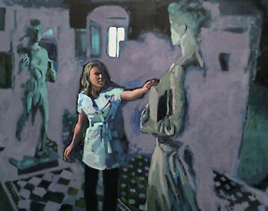 Young-Women-Girl-Female-Fantasy-Figure-Night-Room-Dream-Oil-Art-Painting