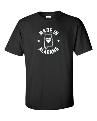 """/""""Made in Alabama/"""" T-Shirt S-4XL heart of dixie cotton state crimson tide roll"""