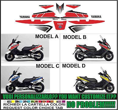 Adesivi 3d Mod/_03 Compatibili Con Fiancate Carena Yamaha Tmax 2001-2007