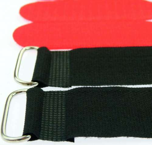 10 serre-câbles Velcro Velcro 80 cm x 50 mm Rouge Velcro Bandes Câble Velcro Oeillet
