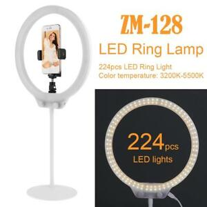 ZM-128-Foto-Video-58W-224pcs-LED-Ring-Licht-5500k-dimmbare-Make-up-Ring-Lampe
