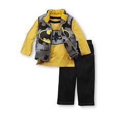 DC Comics Batman Infant & Toddler Boy's Insulated Vest, T-Shirt & Jeans Size 3T