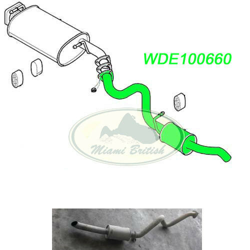 LAND ROVER TAIL REAR END PIPE EXHAUST MUFFLER SILENCER DISCO 2 V8 WDE100660 USED