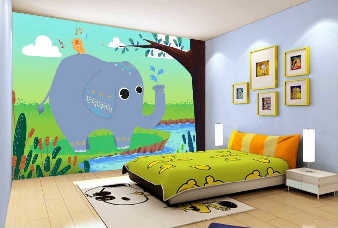 3D 3D 3D lila Elephant Tree Paper Wall Print Decal Wall Wall Murals AJ WALLPAPER GB fdb8a3