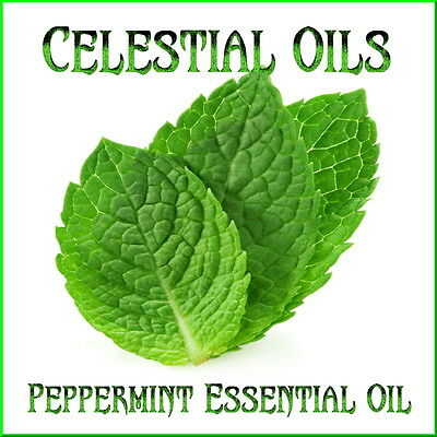 CELESTIAL OILS AROMATHERAPY PURE 100% ESSENTIAL OIL - PEPPERMINT - FREE POSTAGE