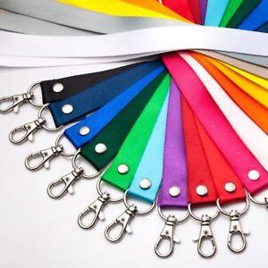 2pcs-Neck-Strap-Lanyard-Safety-Breakaway-ID-Card-Badge-Holder-Keys-Metal-Clip