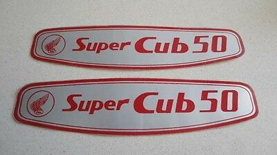 Honda C50 super cub custom 50 gas tank side cover decals stickers emblems H2347