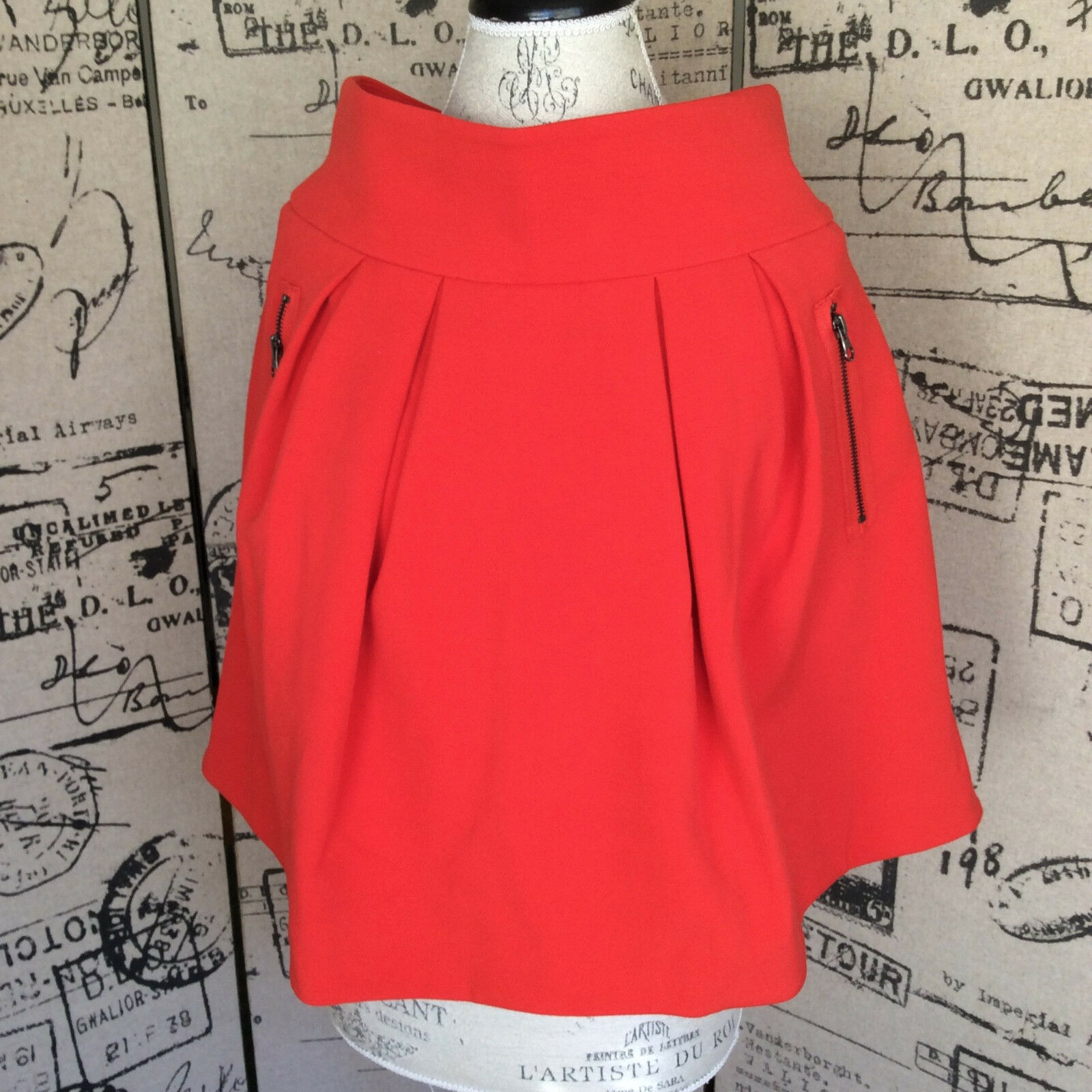 Anthropologie Maeve Womens orange-ish Red Skirt Size 4