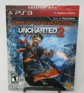 UNCHARTED 2: AMONG THIEVES - GOTY ED. GAME FOR PLAYSTATION 3 PS3, FACT. SEALED
