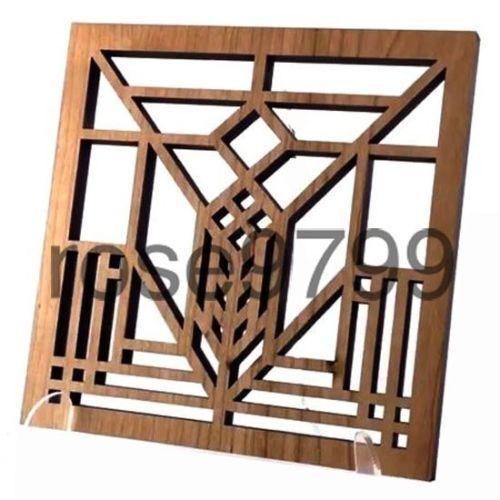 Frank Lloyd Wright Laser Cut Wood Lake Geneva Trivet and Wall Plaque TR05