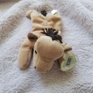TY Beanie Baby Derby Rare/Retired 1995 Yarn Mane Tag Errors!