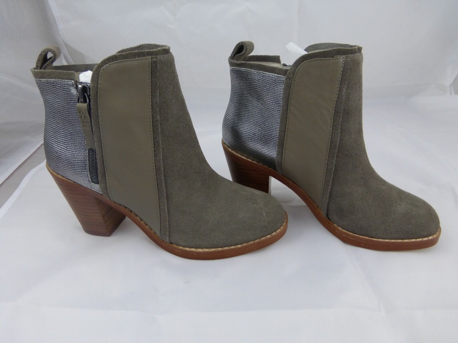 Matt Bernson NEW Grey Womens Size 6 Fashion Ankle Leather & Suede Boots