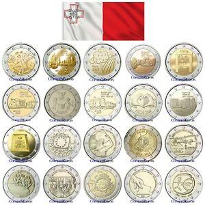 2-Euros-Conmemorativos-MALTA-Sin-circular-TODOS-LOS-ANOS