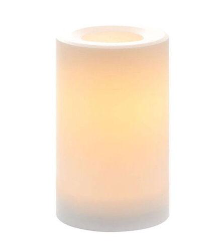 Candle Impressions 3.3 x 4 inch Vanilla Wax Pillar Candle 5 Hour Timer Cream