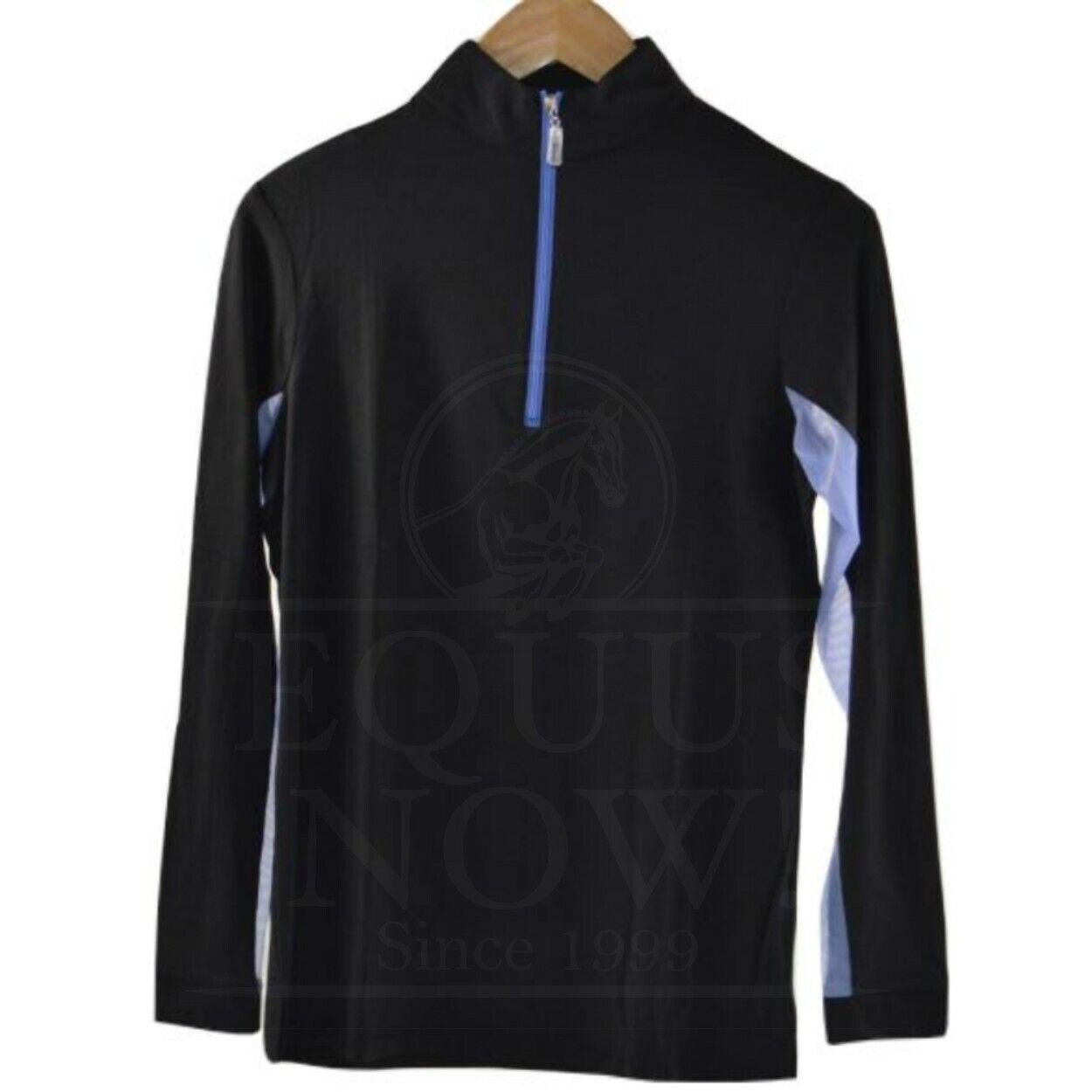 Sportsonetwerk Sportsman Icesfil Zip Top Lange mouw Shirt --zwart Iris --Kies Grootte