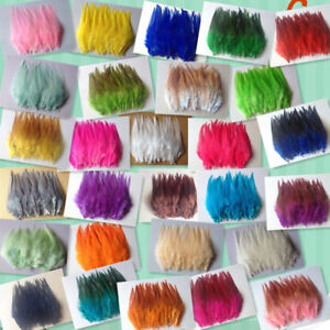 DIY-HOT-Beautiful-30pcs-rooster-tail-little-feathers-2-4inches-5-10cm