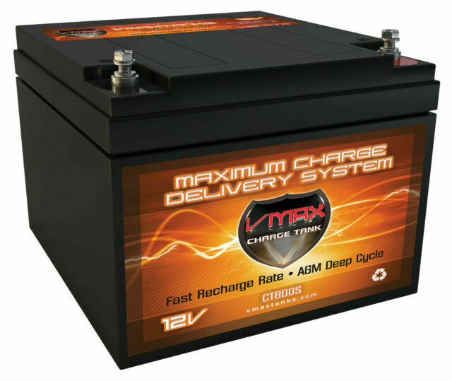 BC1204 VMAX V30-800 CASE 12 Volt 30Ah AGM BATTERY AND 12V 3.3A SMART CHARGER