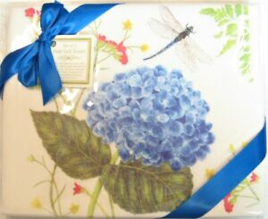 NEW Alice/'s Cottage Cotton Flour Sack Kitchen Tea Towel Blue Butterfly