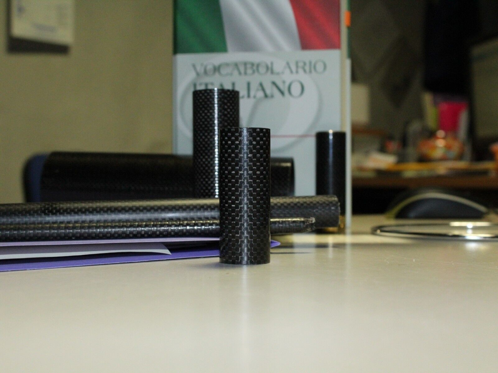 Tubo in fibra di Carbonio Plain 3k Modellismo / telescopico
