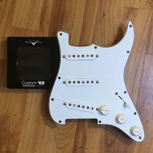 NEW-Fender-Custom-Shop-69-Strat-Pickup-Set-Prewired-Loaded-Pickguard-PIO-White