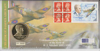 QEII FDC PNC COIN/ MEDAL COVER 1995 R J MITCHELL ROYAL MINT/MAIL B/UNC