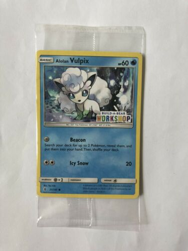 Alolan Vulpix Build-A-Bear New /& Sealed Promo 21//145 Pokemon Card