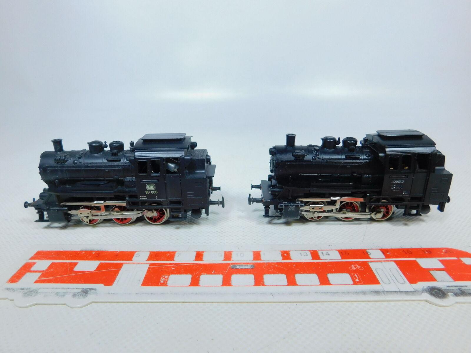 BZ158-1  2x Märklin H0 AC 3000 Tenderlok Dampflok DB  89 006 + 89 005