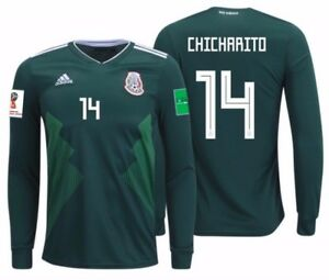 fde974186 Image is loading ADIDAS-CHICHARITO-MEXICO-LONG-SLEEVE-HOME-JERSEY-WORLD-